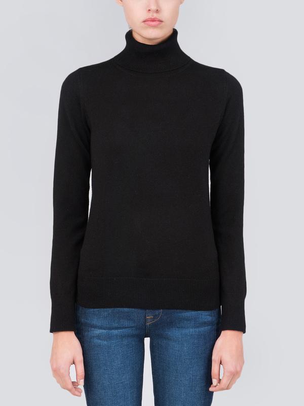 Turtleneck Slimfit Sweater_Black