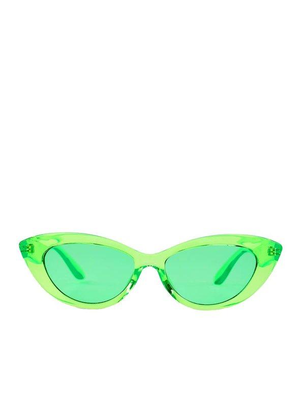 Reality Eyewear BYRDLAND SUNGLASSES - NEON GREEN