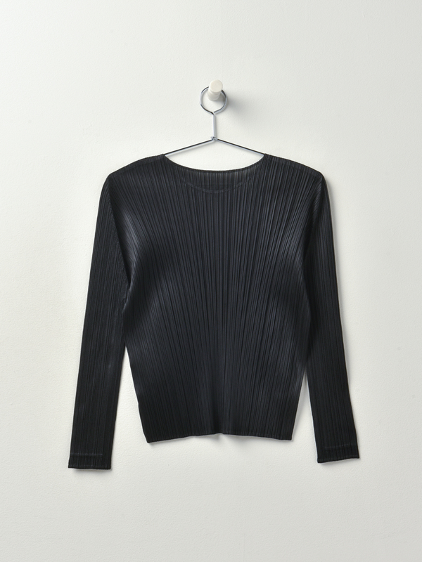 Pleats Please by Issey Miyake Monthly Color Crewneck Top - Black
