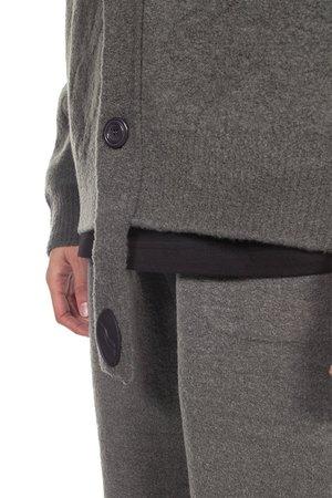 we11done Felted Knit Cardigan - grey