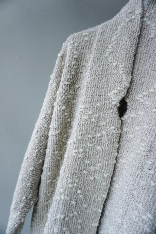 LAUREN MANOOGIAN ORU COAT - WHITE COMBO