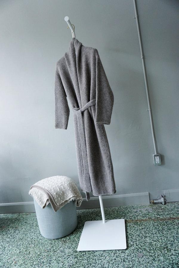 Lauren Manoogian Fluffy Wool Robe Coat - Steel