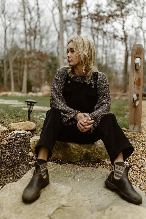 Conrado Nora Bib Overalls - Black Cotton Velvet