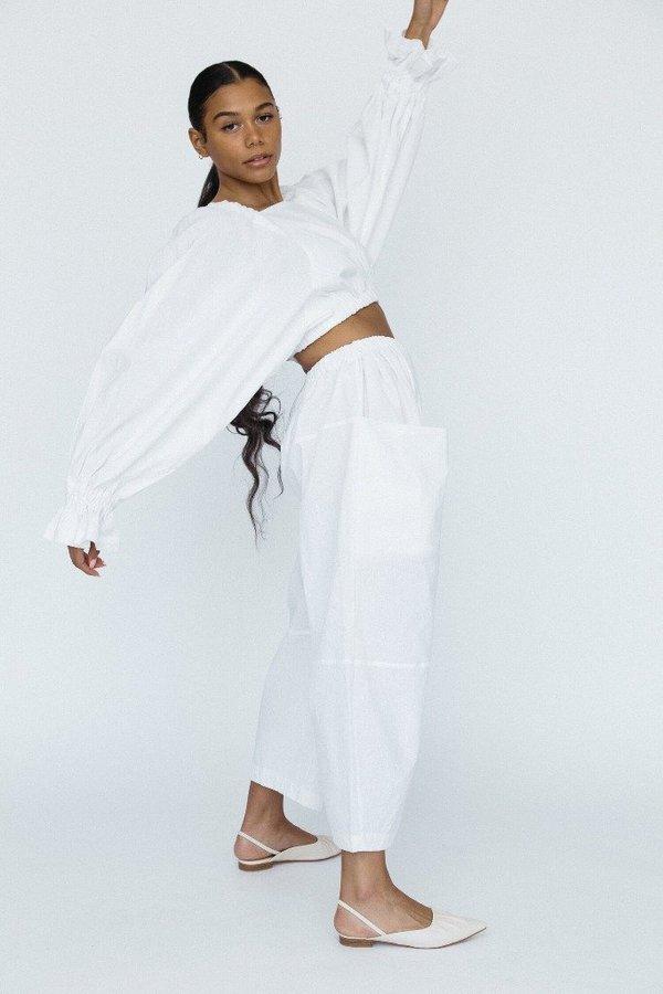 323 Maryam Pants - White Linen