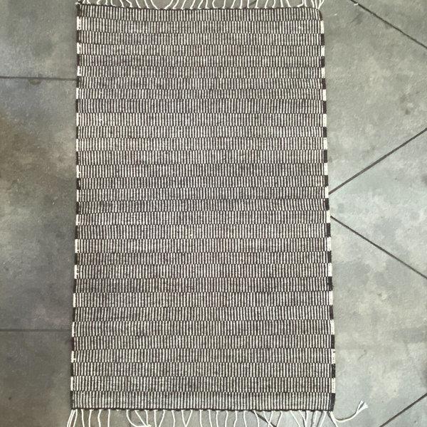 Made Solid Oaxacan Handwoven Wool Rug - gray