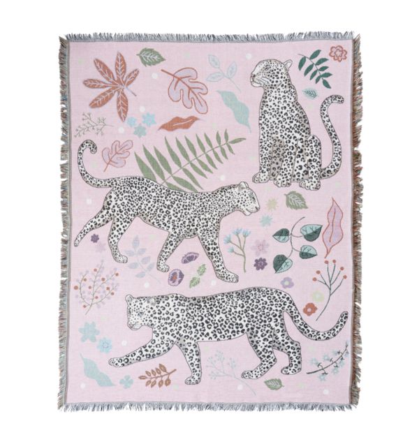 Leopard Throw, Pink