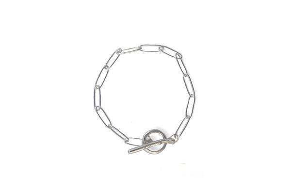 C and V Jewellery Squashed Bracelet - SILVER