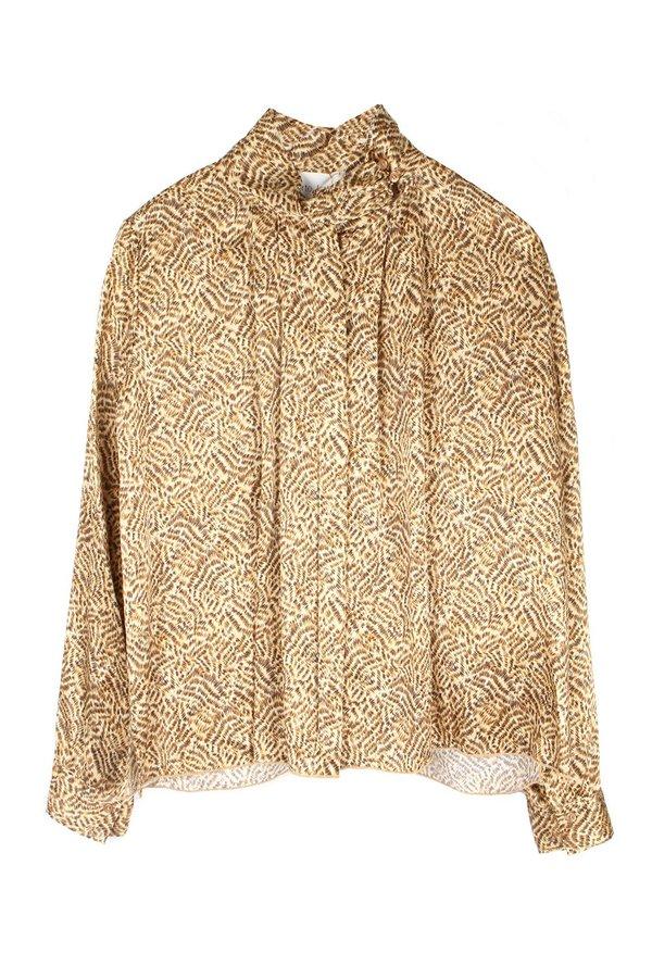 Forte Forte Eagle Print Silk Shirt - Oro