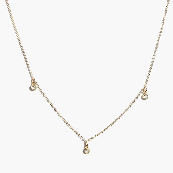 ABLE Triple Stella Drop Necklace - Gold