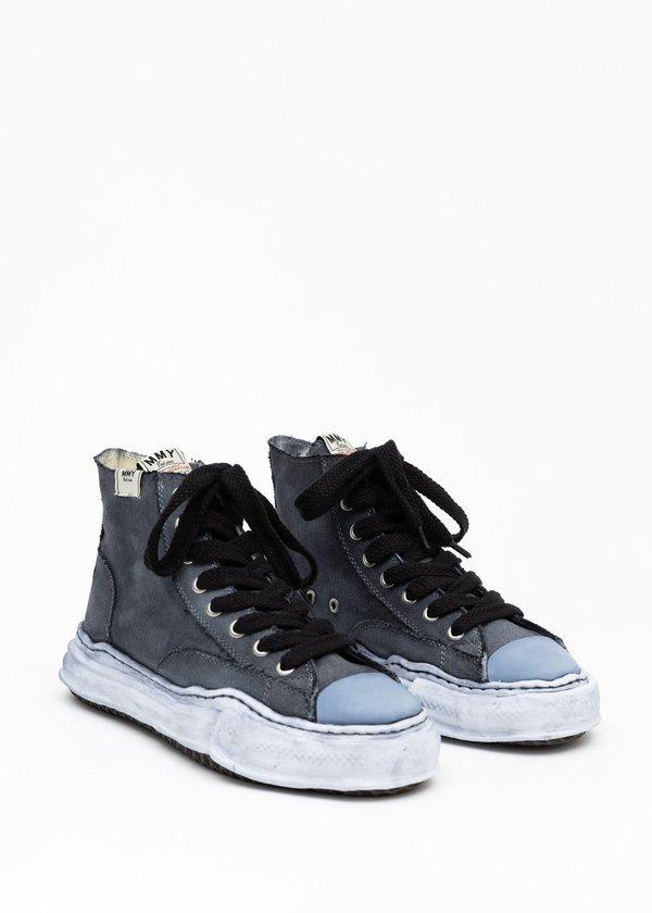 Mihara Yasuhiro Original Sole Overdyed Hitop Sneaker - Black