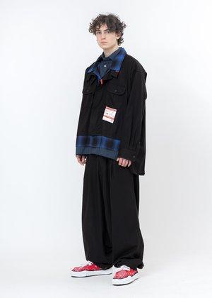 Mihara Yasuhiro Over Sized Smooth Chino Pants - Black