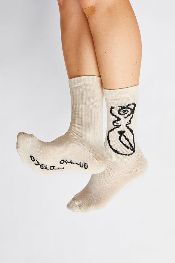 Unisex Overall Office Venus Socks - Nature