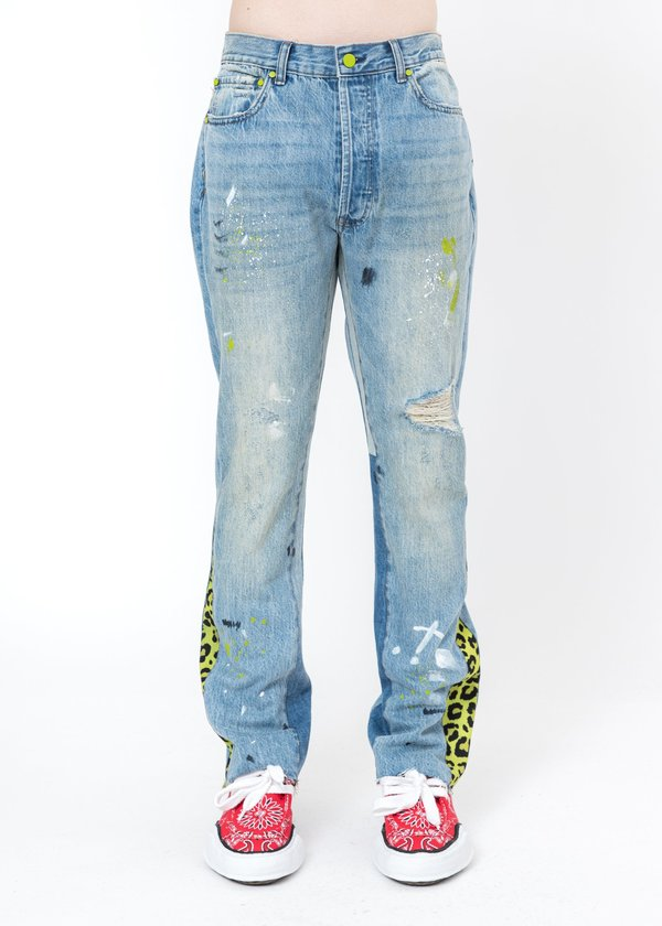 LXVI Patchwork Jeans - Light Blue