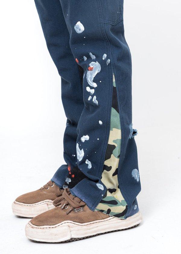 LXVI Patchwork Jeans - Navy