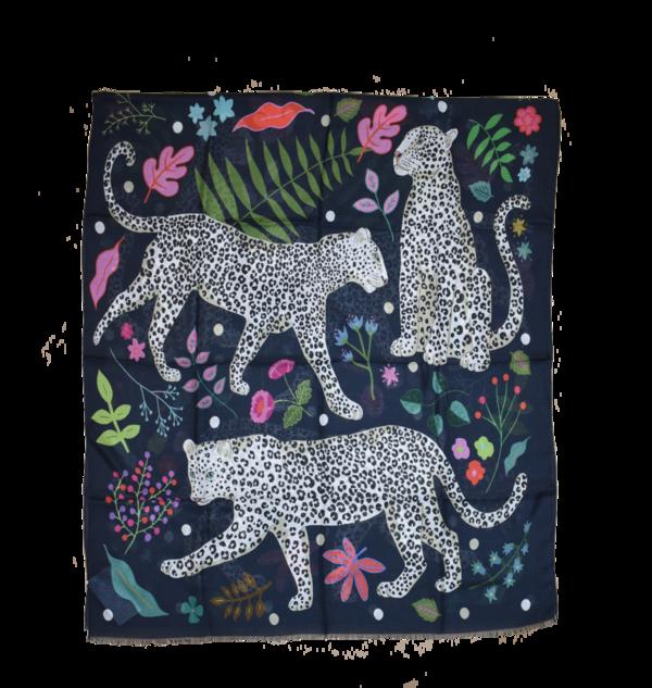 Karen Mabon Cashmere Blend Scarf - Snow Leopards