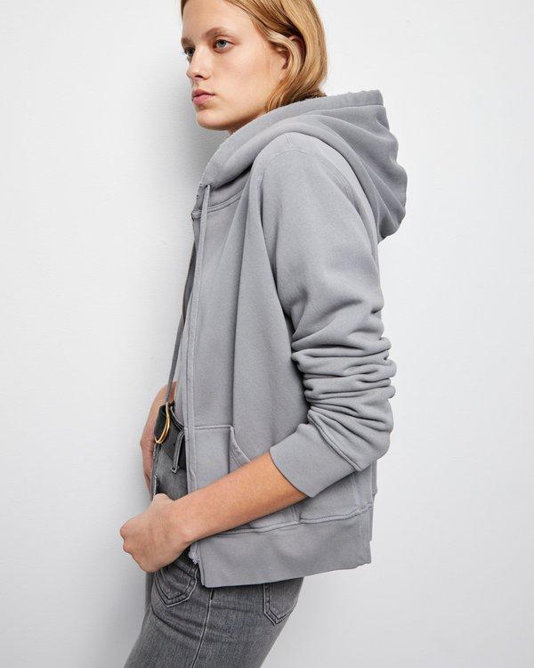 Nili Lotan Callie Zip Up Hoodie - Cloud Grey