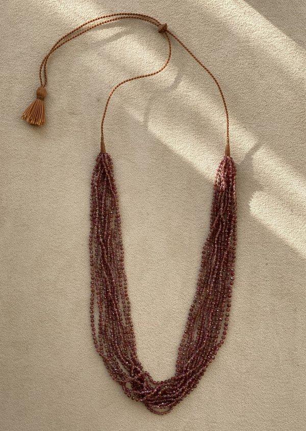 Lena Skadegard Sapphire Tassel Necklace - Pink