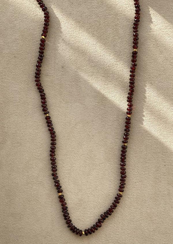 Lena Skadegard Necklace - Red Garnet/18k Gold