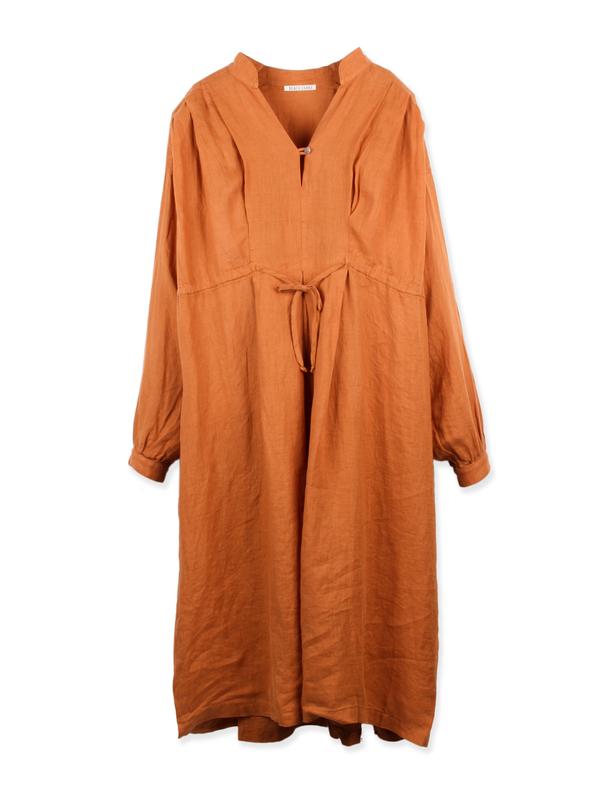 Poet Dress Rust