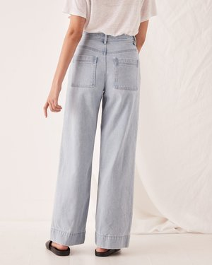Assembly Label Wide Leg Jean - Pacific Blue