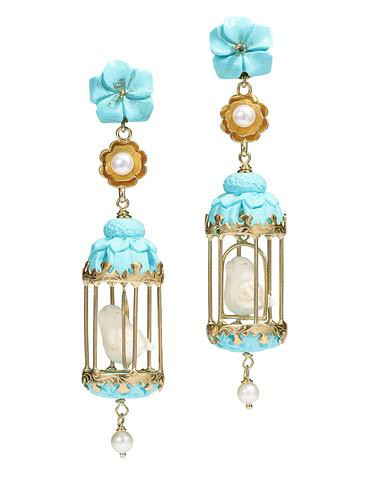 """Of Rare Origin Aviary Bird """"2"""" earrings"""