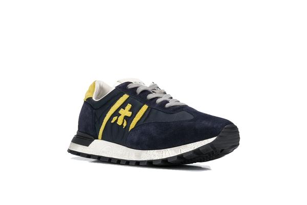 Premiata Johnlow Sneakers - Navy/Yellow