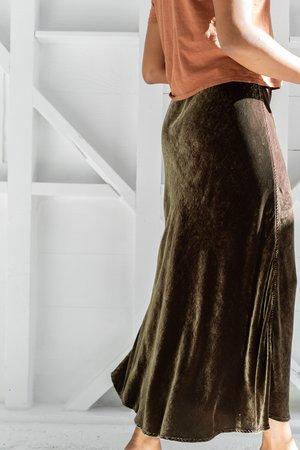 Cp Shades Velvet Tanya Skirt - Algae