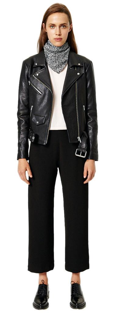 Veda Jayne Leather Biker Jacket