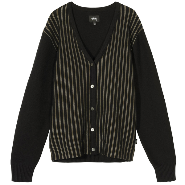 Stussy Stripe Cardigan - Black