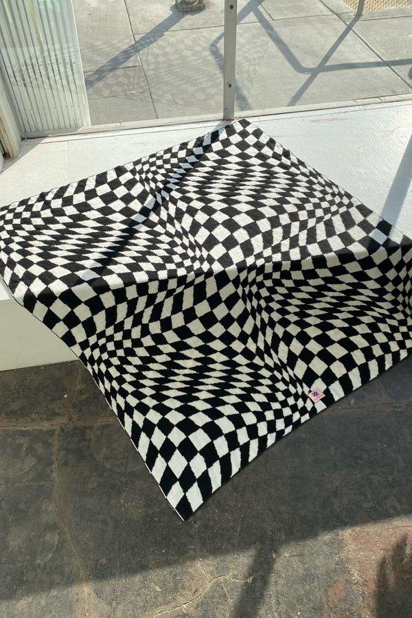 Lisa Says Gah Heidi Throw Blanket - Black Warp Check