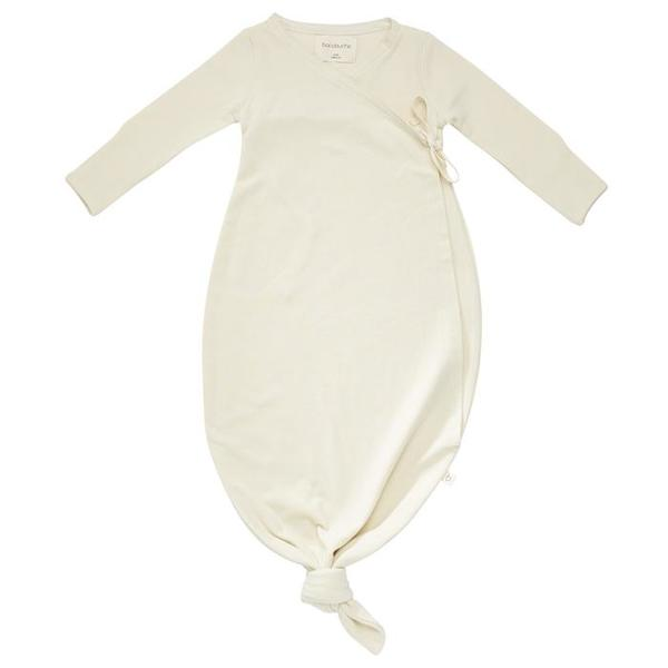 KIDS Bacabuche Baby Organic Cotton Kimono Gown - Cream