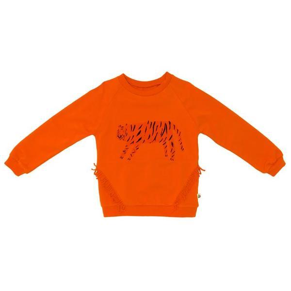 Kids Noe & Zoe Fringe Sweatshirt - Orange