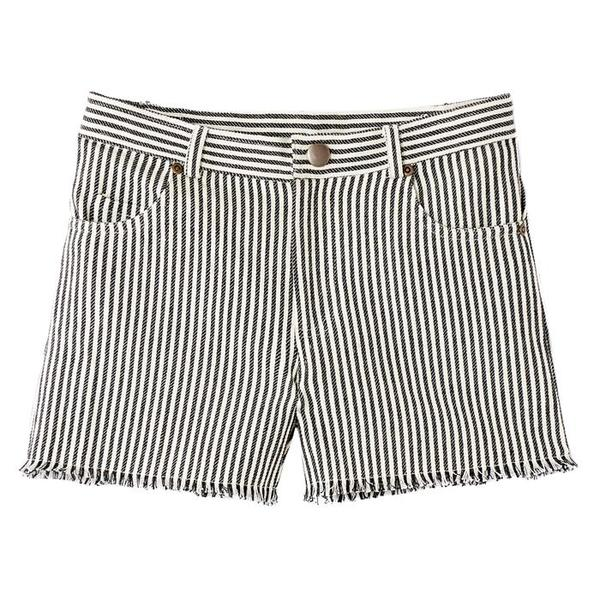 Kids Polder Girl Dustin CR Shorts - Grey Stripes
