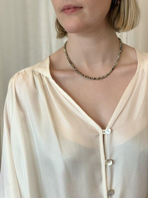 Tilda Dalmatian Jasper Bead Necklace