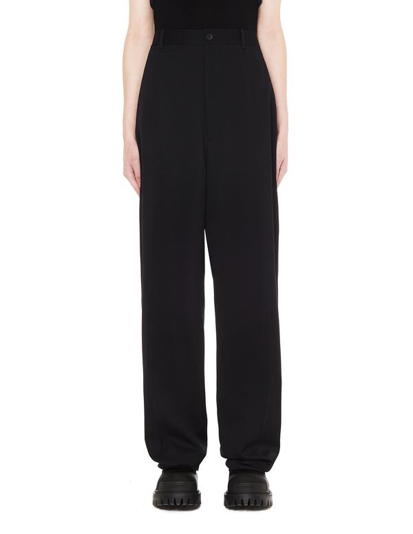 Balenciaga Wool Straight Trousers - Black