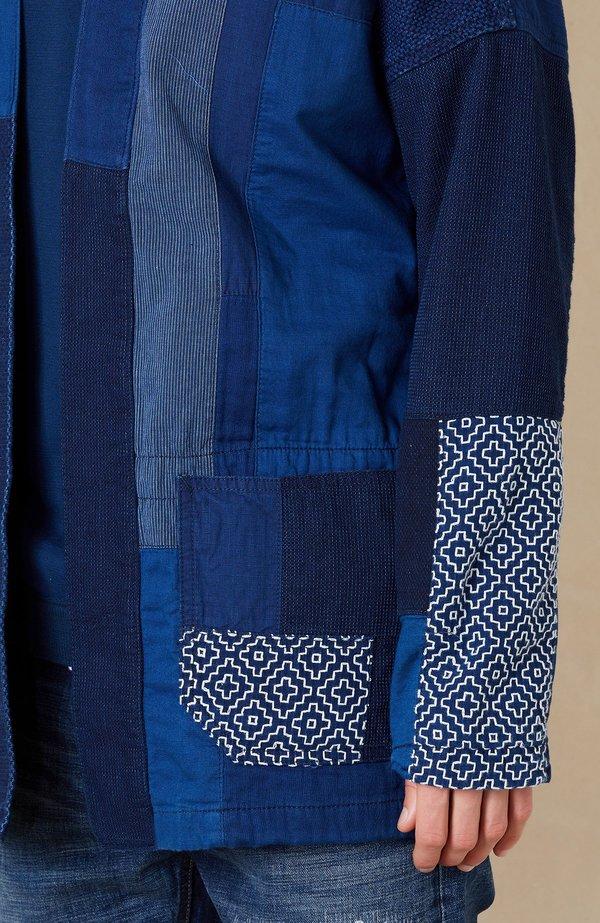 FDMTL Sashiko Haori Jacket - Rinse Indigo