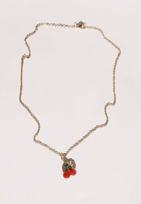 Ninfa Handmade Cherries Simple Chain - Gold