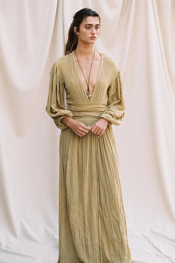 Jen's Pirate Booty Lapis Maxi Dress - Olive