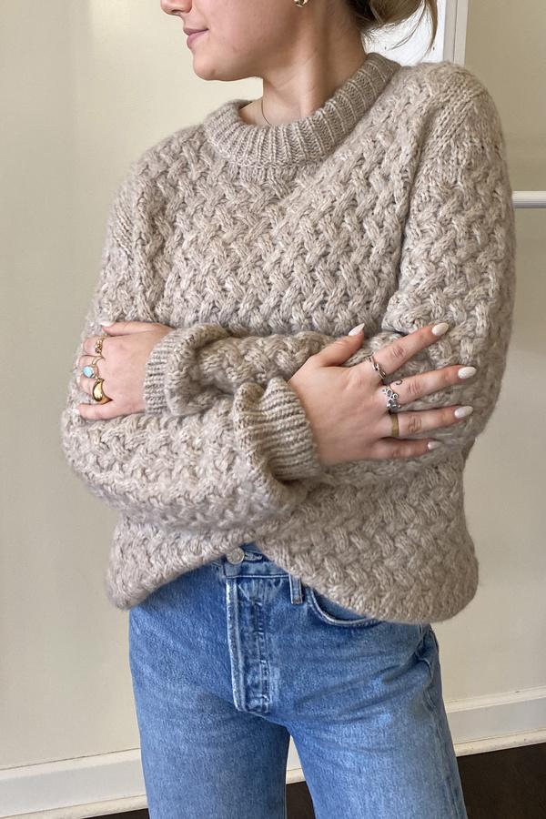 Christina Lehr Kiernan Crew Sweater - Oatmeal