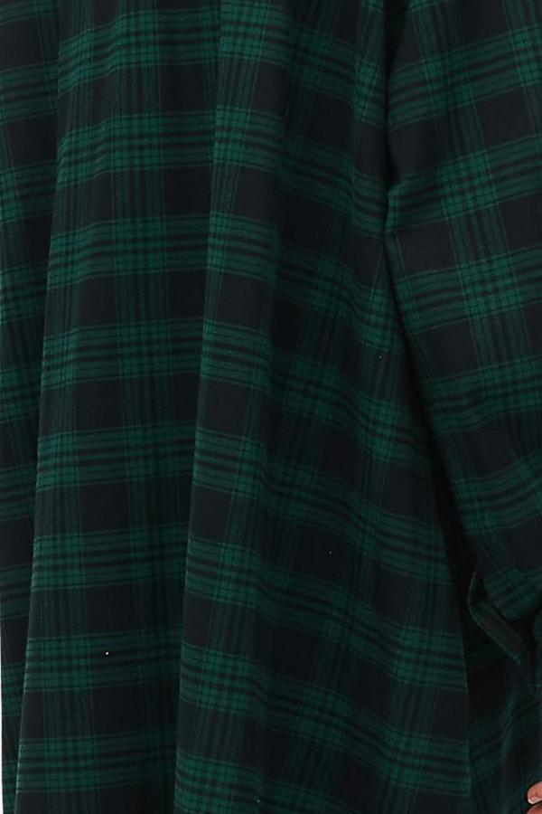 Sleeveless Nightie Green Check Flannel