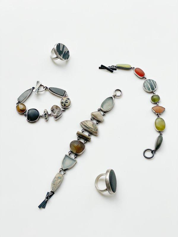 Terri Logan Stone Bracelet - Sterling silver