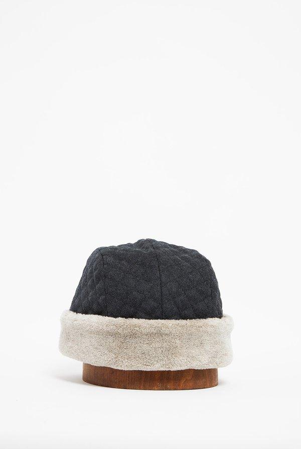MATURE HA Quilting Hood Cap - Charcoal
