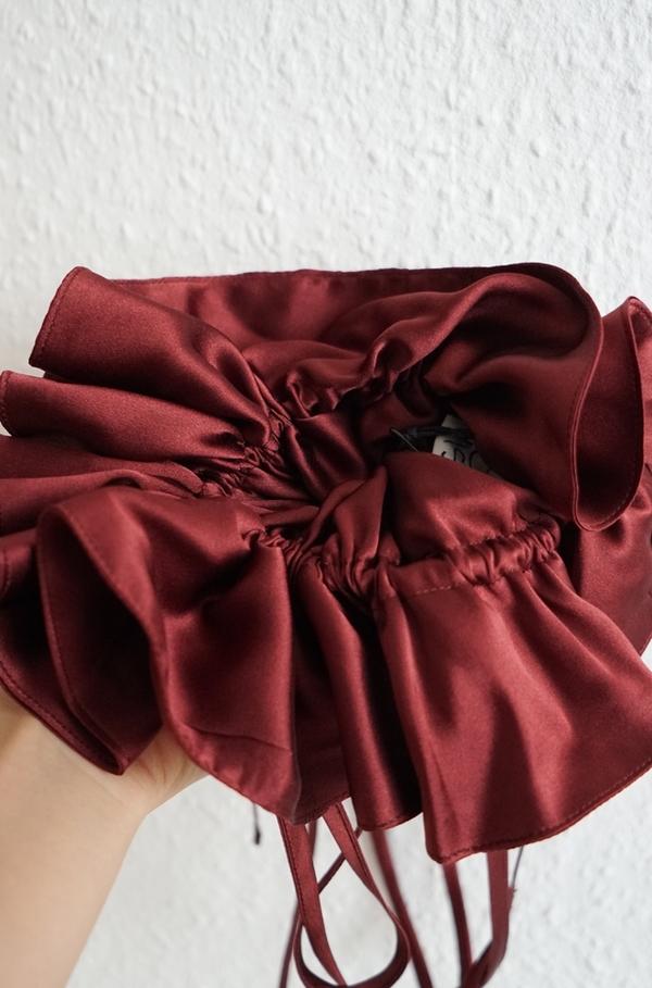 Baserange Chet Silk Satin Pouch - Auger Red