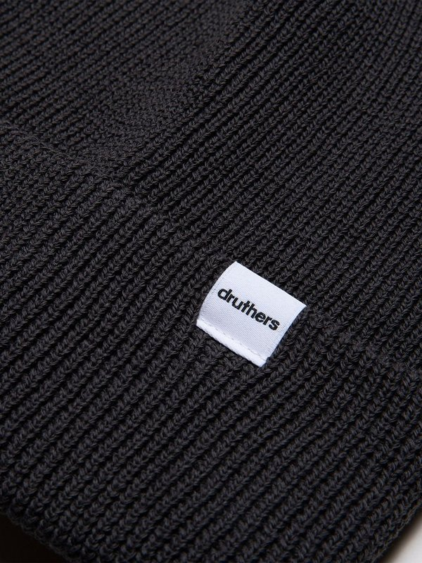 Druthers Cardigan Knit Beanie - Washed Black