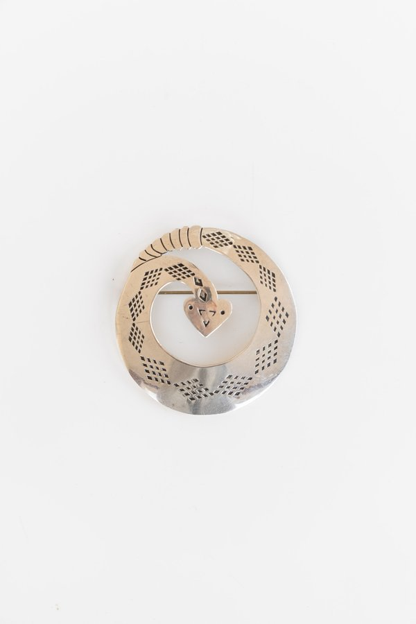 Vintage Rattlesnake Pin - Sterling Silver