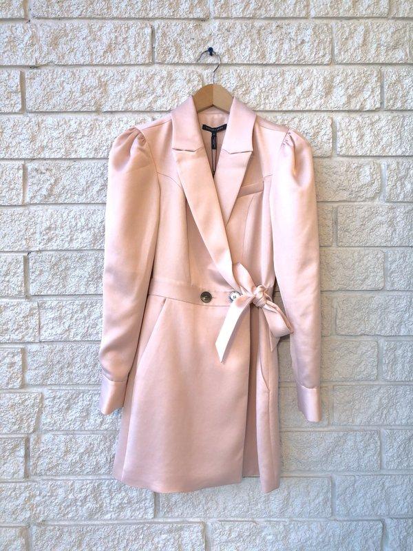 Marissa Webb Asher Satin Crepe Blazer Dress - Blush