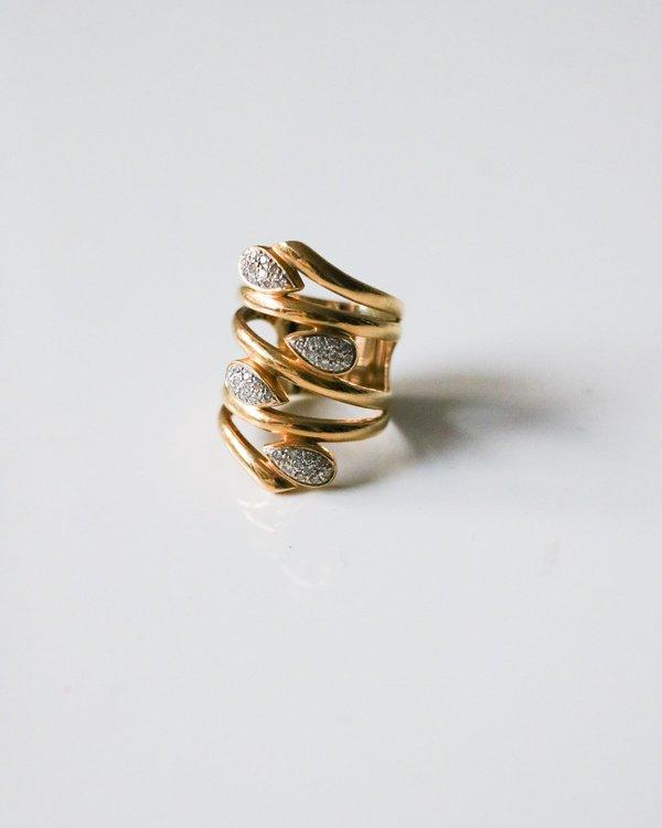 Pre-loved Diamond Cuff Ring - yellow gold/diamond