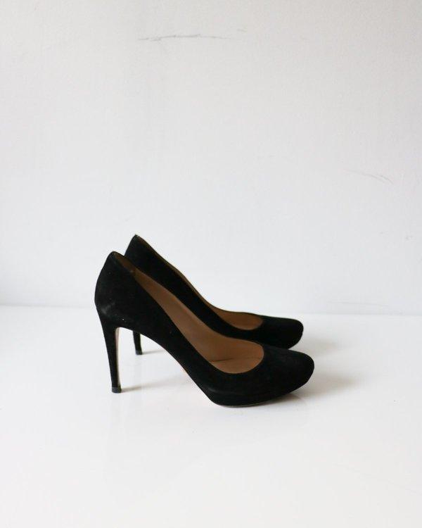 Prada Black Suede Pumps, Size 37.5