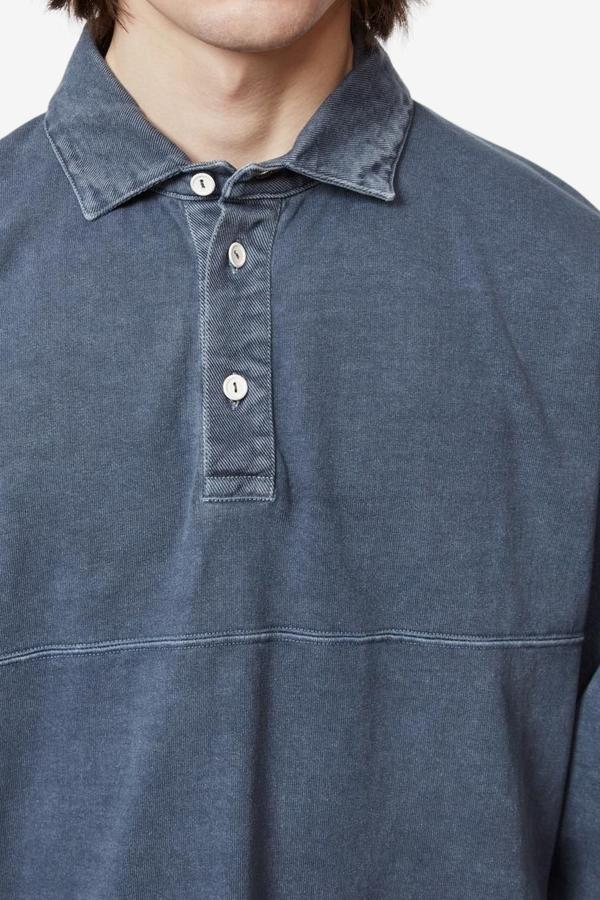 Schnayderman's Garment Dyed Rugby Shirt - Mood Indigo