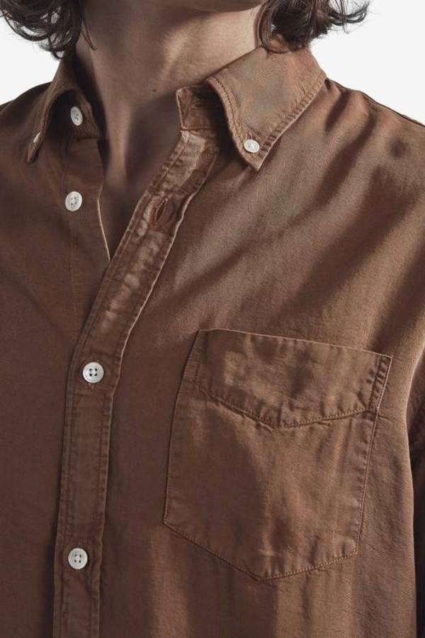 NN07 Levon Tencel Shirt - Canela Brown